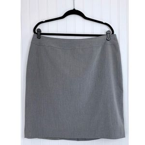 Worthington Gray Stretch Lined Pencil Skirt, 18